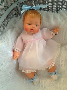 Vintage-Antique-Ideal-1960s-TINY-THUMBELINA-Baby-Doll-OTT-14-WORKS