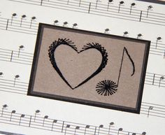 Love Note Embroidered Card Heart