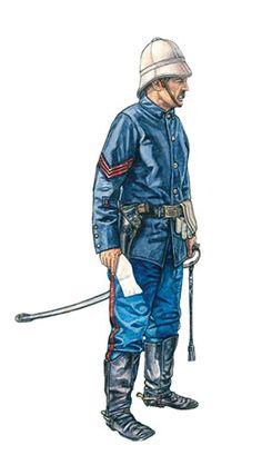 Sargento del 1er. Regimiento de Artillería, Tampa, 1898.