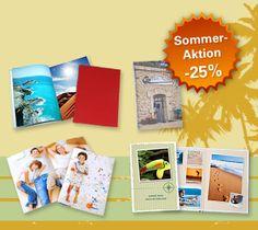 Sommeraktion bei AustroBild! 25 Prozent auf ausgewählte Fotobücher! Halten Sie Ihre Urlaubsfotos in einem Fotoheft, Premium Fotobuch, Fotobuch mit Hardcover oder Softcover fest und sparen Sie bis 18.9.12 25 Prozent.