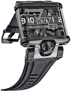 Devon Tread1 E Men's Time Belt Microstep Motor Watch