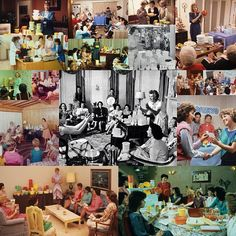Tupperware Parties.. it's actually really interesting what these parties did for the Women's Movement in the 60s.