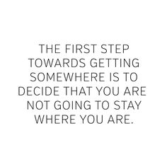 Take that first step today!