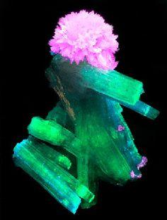 Luminescence, fluorescence and phosphorescence of minerals