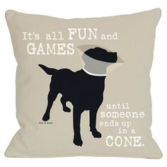 Dog-inspired pillow with text detailing. Product: PillowConstruction Material: Polyester cover and polyester down...
