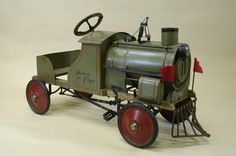 pedal cars | 1313: 1928 GENDRON PIONEER FLYER LOCOMOTIVE PEDAL CAR : Lot 1313