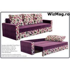 Canapea extensibila Dora cu 3 locuri WIZ 012 Bench, Sofa, Storage, Interior, Furniture, Home Decor, Purse Storage, Settee, Decoration Home