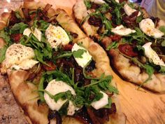 Caramelized Onion & Tomato Flatbread Recipe