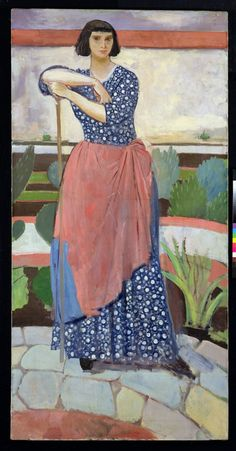 """Augustus Edwin John, 1878 – 1961, was a Welsh painter, draughtsman, and etcher. For a short time around 1910, he was an important exponent of Post-Impressionism in the U.K. """"Augustus was celebrated first for his brilliant figure drawings, and then for a new technique of oil sketching. His work was favourably compared in London with that of Gauguin and Matisse. He then developed a style of portraiture that was imaginative and often extravagant, catching an instantaneous attitude in his…"""