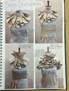 Fashion Sketchbook - fashion design development; draping; creative process; fashion portfolio // SJD, Emma