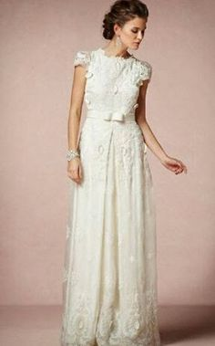 three quarter sleeve vintage wedding dress - Google Search
