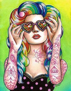 Pin-up tattoo idea?