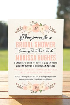 unique bridal shower invitation bridal shower | only printable arts