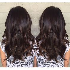 Dark chocolate with a subtle lift. Color by @jackss_ #hair #hairenvy #haircolor #brunette #darkchocolate #highlights #newandnow #inspiration #maneinterest