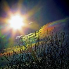 Iriserende skyer.