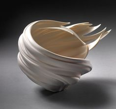 Wind Bowl - porcelain by Jennifer McCurdy