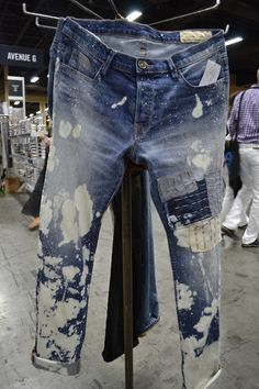 Inspired by Japanese hand-mending techniques, we love the indigo layered patchwork at ENK, Las Vegas