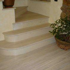 Scala in rovere sbiancato e piallato con alzata in marmo Stairs, Home Decor, Stairway, Decoration Home, Staircases, Room Decor, Ladders, Interior Decorating, Ladder