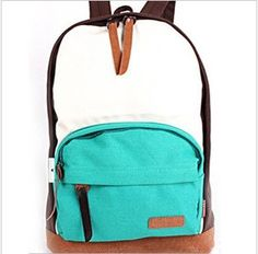 Preppy style canvas backpack for college students school bag women's trend backpack fashion bag-inBackpacks from Luggage  Bags on Aliexpress.com $11.00