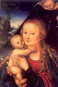 LUCAS CRANACH (1472 - 1553): Madonna Holding the Infant Jesus (1530)