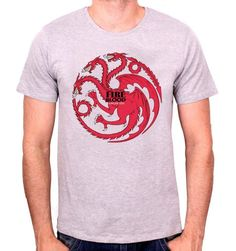 T-shirt Game Of Thrones - Fire And Blood. Sous licence officielle Game Of Thrones T-shirt Game Of Thrones - Fire And Blood Col rond Manches courtes Sérigraph. Sweat Shirt, Logo Punisher, Game Of Thrones, Officiel, Blood, Boutique, Fire, Licence, Mens Tops