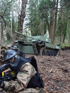D-Day landing scenario in Delta Force Bristol paintball centre! Are you skilled enough to take out the German defenses?