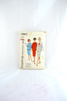 1960s Vintage Simplicity Pattern 3667 Misses by TabbysVintageShop, $7.50