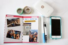 Sprocket Travel Journal | Wouldn't it be nice if you could print your pictures while you are traveling and document all the fun so that by the time you get home you have your completed travel journal? With the new HP Sprocket, you can finally get those pictures off your phone and into a book!