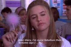 Image about Clueless in movies by on We Heart It Bad Girl Aesthetic, Quote Aesthetic, Life Quotes Love, Mood Quotes, Dear Diary Quotes, Clueless Quotes, Clueless 1995, Clueless Aesthetic, Quotes Distance