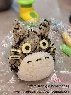 楽しくてお弁当とキャラベン: トトロとピカチュウお握り Totoro & Pikachu Onigiri