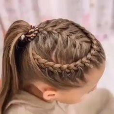 Easy Braid Video Tutorials for Kids! – Flechtfrisuren – Easy Braid Video Tutorials for Kids! Girls Hairdos, Kids Braided Hairstyles, Girls Braids, Box Braids Hairstyles, Little Girl Hairstyles, Cute Hairstyles, Doll Hairstyles, Toddler Hair, Girl Short Hair