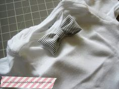 Easy baby bowtie--no sew! So easy and cute. I made it just before church