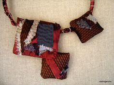 collier barbare - photo of a necklace - sewn and embroidered - so cool!!!!!