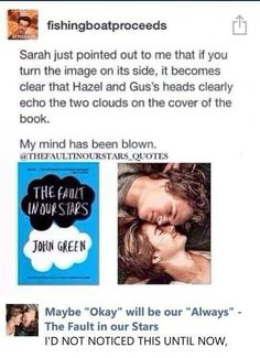 I find it funny that te Yeti had to tell the author of TFIOS for him to realize this