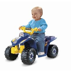 Buy Fisher Price Power Wheels Lil' Quad 6 V ATV Ride On Toy with Battery and Charger at Wish - Shopping Made Fun Toddler Age, Toddler Toys, Baby Toys, Kids Ride On, Kids Bike, Power Wheels Quad, Toys For Boys, Kids Toys, Children's Toys