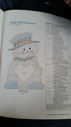 Plastic Canvas Books, Plastic Canvas Crafts, Plastic Canvas Patterns, Fall Patterns, Craft Patterns, Christmas Patterns, Snowman 6, Frosty The Snowmen, Christmas Ornament Crafts