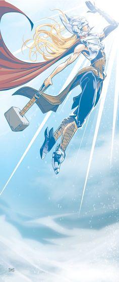 Marvel Comic Universe, Marvel Comics Art, Marvel Vs, Marvel Heroes, Anime Comics, Comic Movies, Comic Books Art, Comic Art, Thor Girl