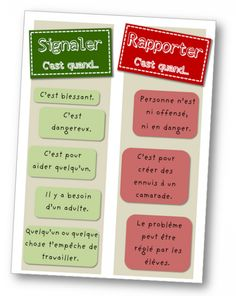 Signaler – Rapporter Signaler – Rapporter,Psycho enfant French tattle or tell sign – Signaler ou rapporter? Related posts:Math Centers for special education. French Teacher, Teaching French, Education Positive, Kids Education, Behaviour Management, Classroom Management, Management Tips, First Day Of School, Back To School