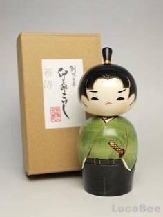 Samurai kokeshi - Usaburo kokeshi
