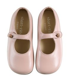 English side-buttoned, pink leather shoes ... by Start-Rite