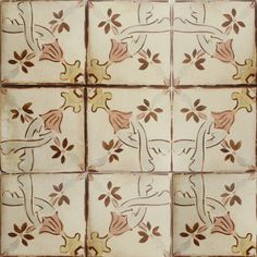 Nord 2 is a unique terracotta tile from our collection of hand-painted tiles inspired by the Baltic aesthetic.