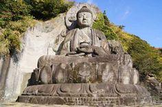 Stone Buddha Statue at Nihon-ji Temple, Chiba Prefecture.