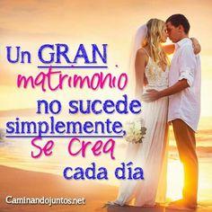 #caminandojuntos #matrimonio #frasespara2 #gran #matrimonio #secrea #cadadía #frase #quote www.caminandojuntos.net