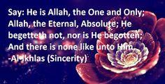 Al-Ikhlas (Sincerity)
