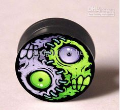 Wholesale Zombie pattern ear plugs tunnel mixing sizes body piercing jeweley flesh tunnel EP980, Free shipping, $0.61/Piece | DHgate Mobile