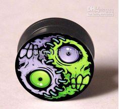Wholesale Ear Plug - Buy Zombie Pattern Ear Plugs Tunnel Mixing Sizes Body Piercing Jeweley Flesh Tunnel EP980, $0.87 | DHgate