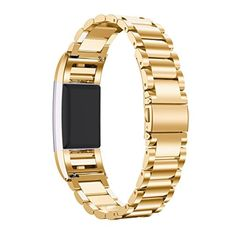 BOKOLI Fitbit Charge 2 Smart Watch Band Genuine Stainless Steel Bracelet Strap Gold - Brought to you by Avarsha.com