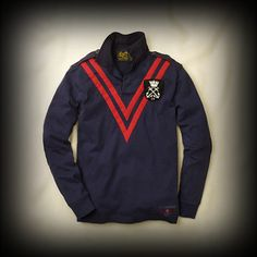 Ralph Lauren Rugby メンズ ポロシャツ ラルフローレンラグビー Chevron Epaulet Rugby ポロシャツ-アバクロ 通販 ショップ #ITShop