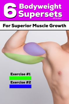 Supersets are amazing for fast workouts and muscle hypertrophy. Use these 6 bodyweight supersets for superior muscle growth and a speedy workout. Workout Plan For Men, Weight Loss Workout Plan, Weight Loss Challenge, Weight Loss Program, Weight Loss Transformation, Weight Lifting, Workout Plans, Bodyweight Strength Training, Muscle Hypertrophy