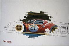 Ludovico Scarfiotti & Mike Parkes, Le Mans 1967, Ferrari 330 P4